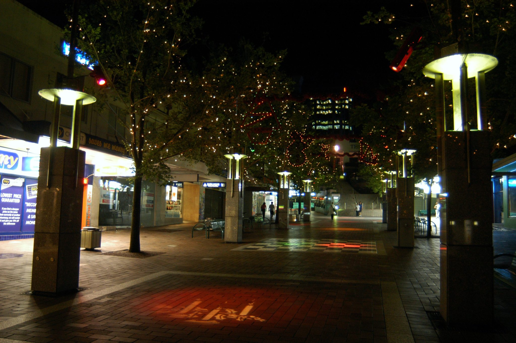 Projector lighting and tree lighting at Chatswood Mall