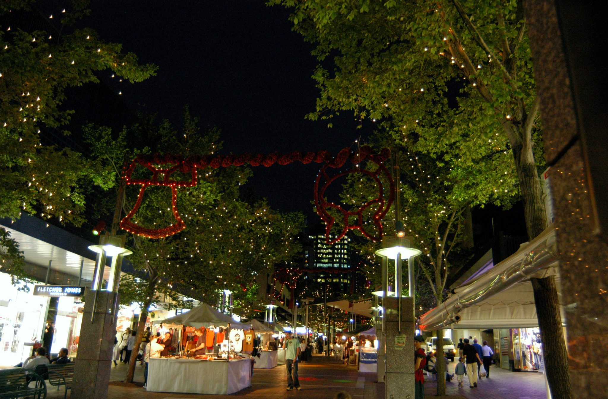 Chatswood Mall decoration and lighting for Christmas