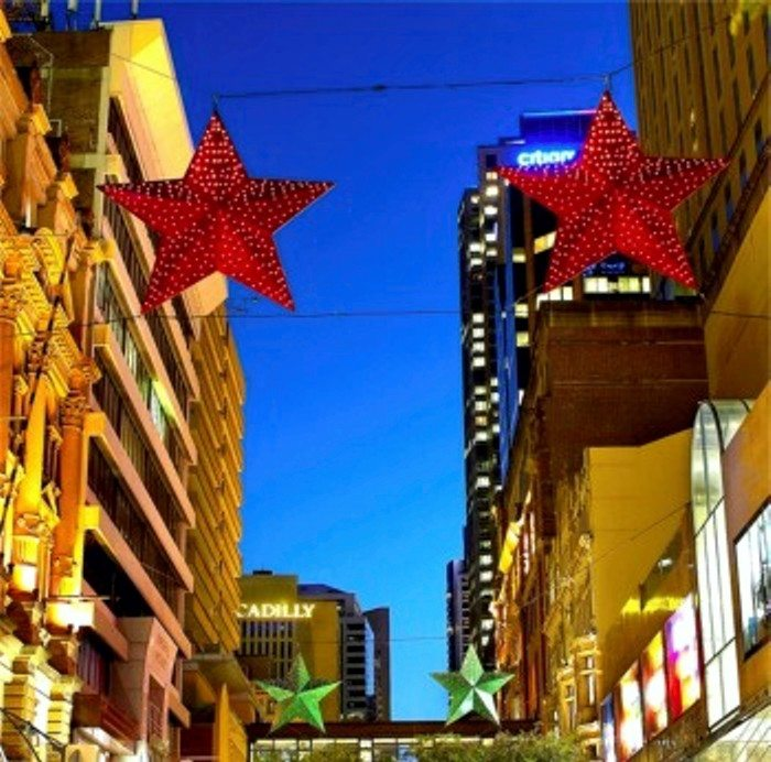 Large-scale Lighting Decorations for Christmas Pitt Street Mall