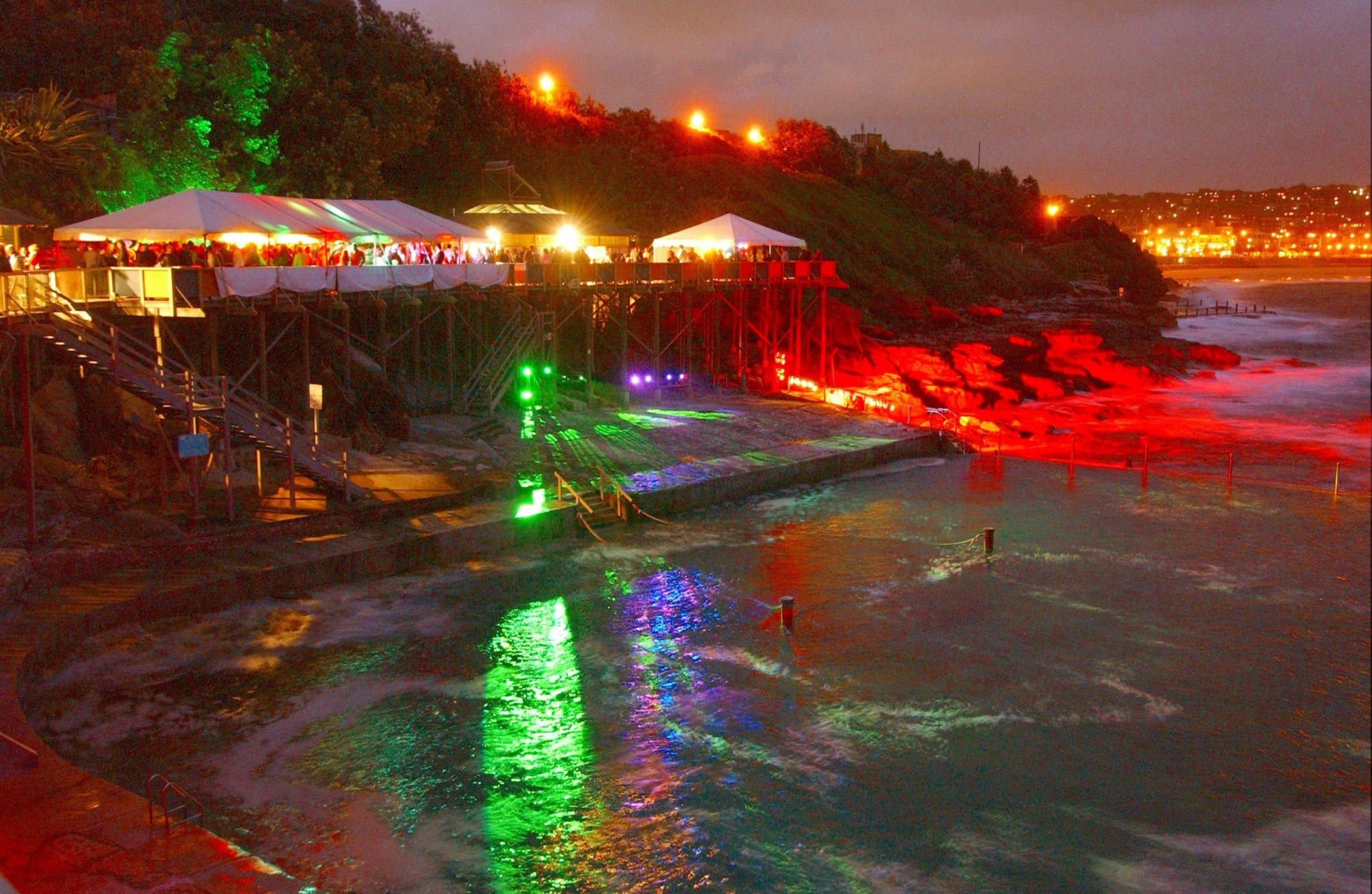 Beachside Party Lighting by Limelight Australia