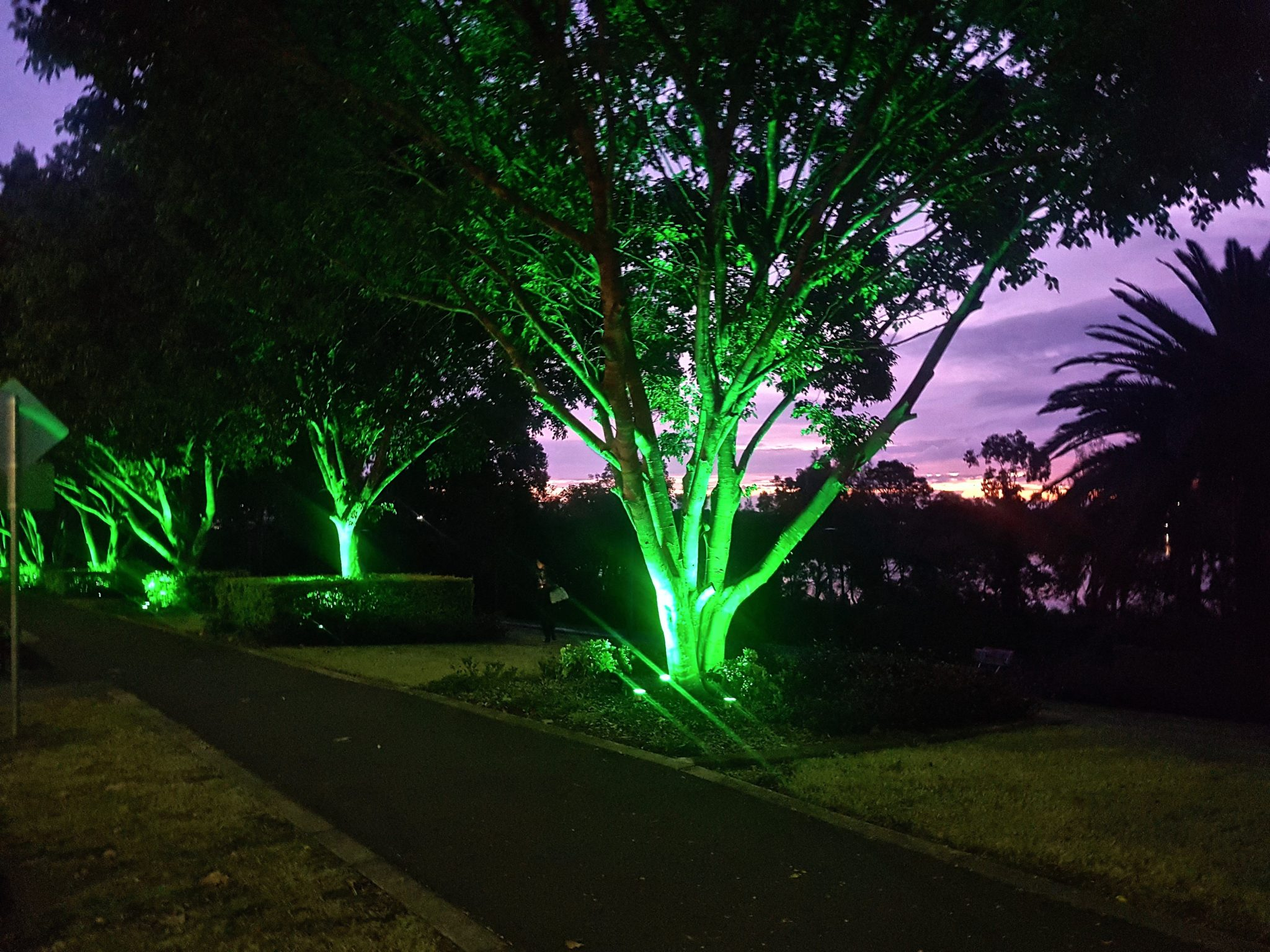 Rhodes lighting display by Limelight Australia