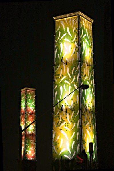 Christmas lighting display at Sydney Park